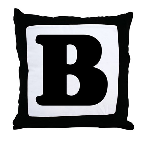 Large Letter B Throw Pillow