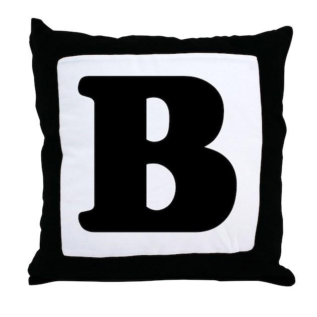Large letter b throw pillow by alphabetgear for Large b letter