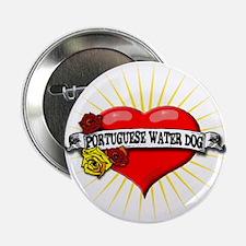 "Portuguese Water Dog Heart 2.25"" Button"