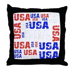 USA grouping Throw Pillow