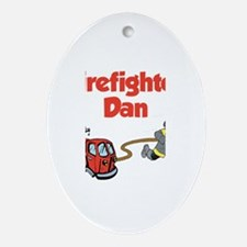 Firefighter Dan Oval Ornament