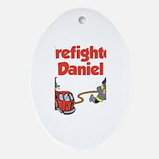 Firefighter Daniel Oval Ornament