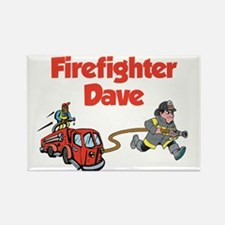 Firefighter Dave Rectangle Magnet