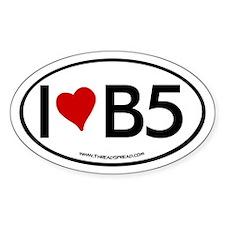 I (heart) B5 Oval Bumper Stickers