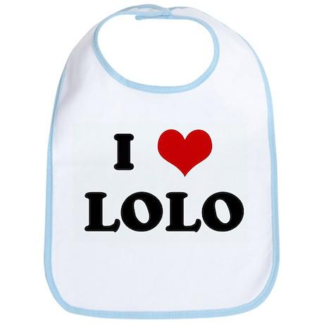 I Love LOLO Bib