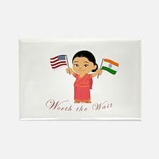 Worth The Wait Adoption INDIA Rectangle Magnet