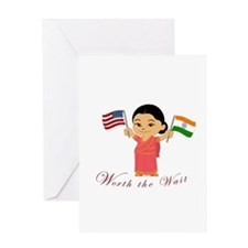 Adoption India WORTH THE WAIT Greeting Card