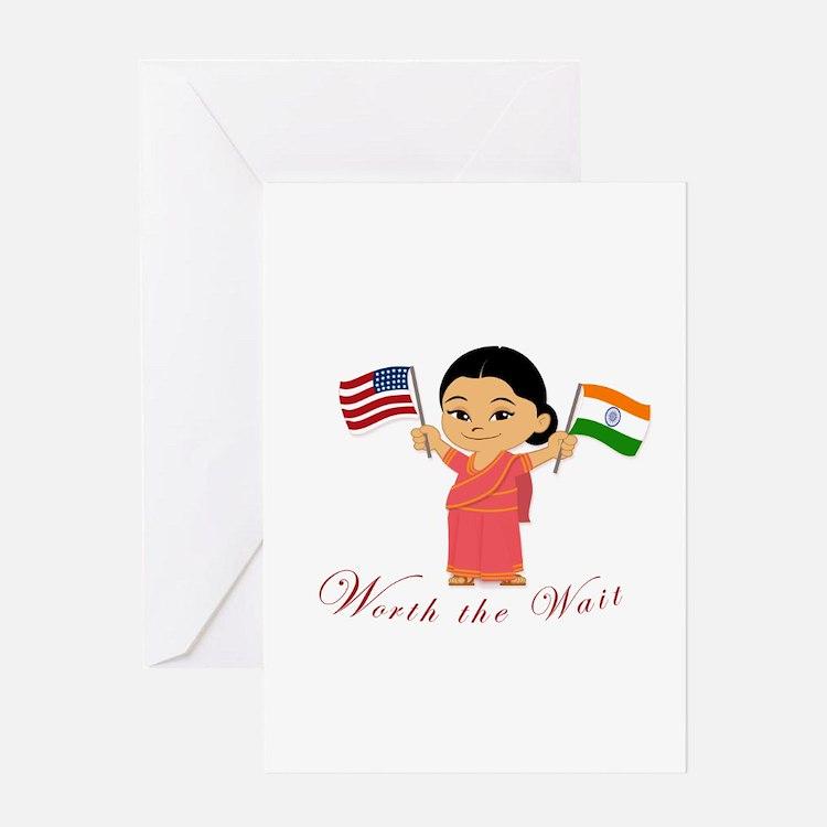 Adoption India WORTH THE WAIT Greeting Card