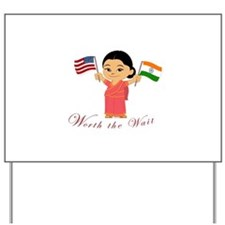 Adoption Announcement INDIA Yard Sign