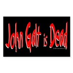 John Galt is Dead Rectangle Sticker