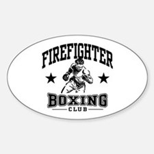 Firefighter Boxing Oval Decal