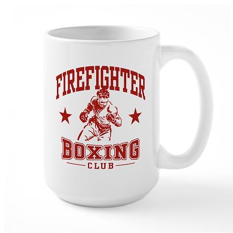 Firefighter Boxing Large Mug