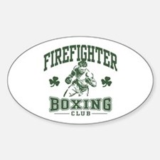 Irish Firefighter Boxing Oval Decal