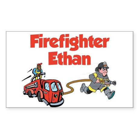 Firefighter Ethan Rectangle Sticker