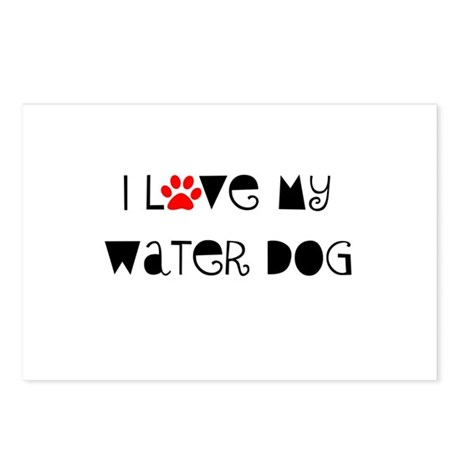 I Love my Water Dog Postcards (Package of 8)