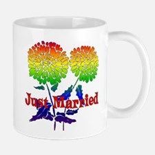 Rainbow Flower Marriage Mug