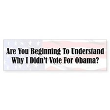 """Wising Up?"" Bumper Bumper Sticker"