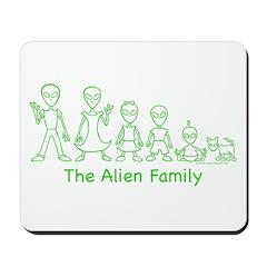 AlienFamilyText Mousepad