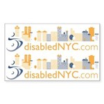 Disabled NYC Rectangle Sticker
