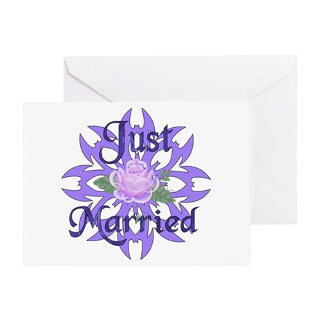 Lavender Marriage Rose Greeting Card