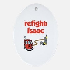 Firefighter Isaac Oval Ornament