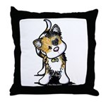 Cupid Calico Kitten Throw Pillow