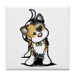 Cupid Calico Kitten Tile Coaster