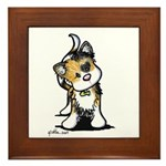 Cupid Calico Kitten Framed Tile