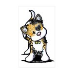 Cupid Calico Kitten Rectangle Sticker 10 pk)