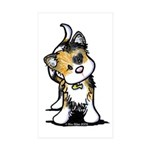 Cupid Calico Kitten Rectangle Sticker 50 pk)