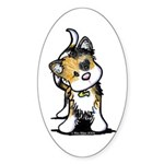 Cupid Calico Kitten Oval Sticker (50 pk)
