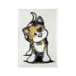 Cupid Calico Kitten Rectangle Magnet