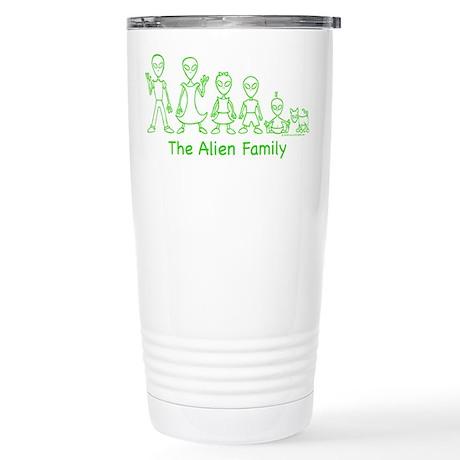 AlienFamilyText Stainless Steel Travel Mug