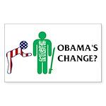 Change? Rectangle Sticker