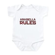 arabella rules Infant Bodysuit