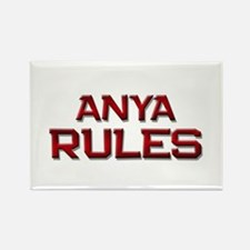 anya rules Rectangle Magnet