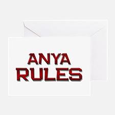 anya rules Greeting Card