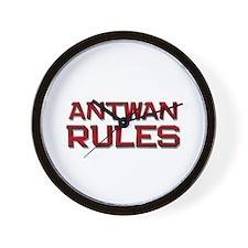 antwan rules Wall Clock