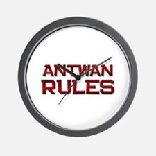 antwan rules Wall Clock