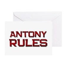 antony rules Greeting Card