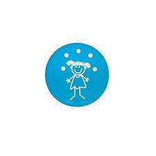 Juggle Girl Mini Button
