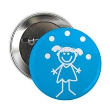 """Juggle Girl 2.25"""" Button (10 pack)"""