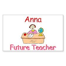 Anna - Future Teacher Rectangle Decal