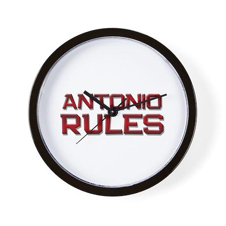 antonio rules Wall Clock