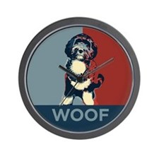 WOOF! Bo The First Dog Wall Clock