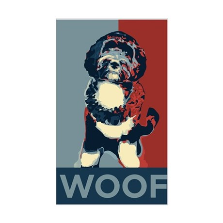 WOOF! Bo The First Dog Rectangle Sticker