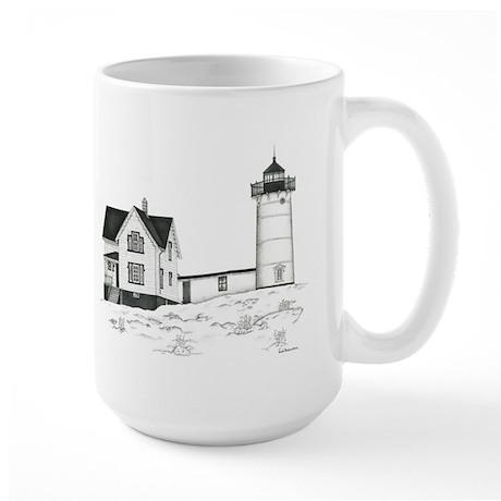 Nubble Lighthouse Large Mug