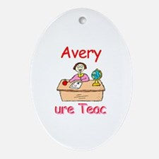 Avery - Future Teacher Oval Ornament