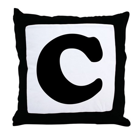 Large Letter C Throw Pillow