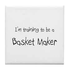 I'm training to be a Basket Maker Tile Coaster